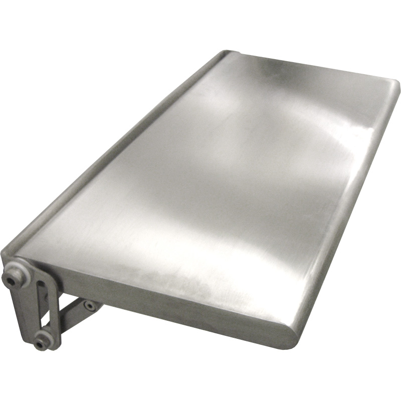 KryptoMax® Stainless Steel Fold-Up Wall Desk shown from side