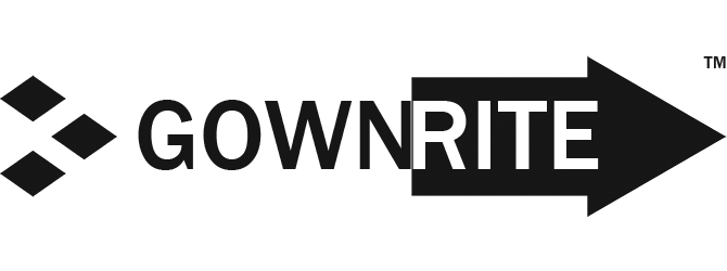 GownRite™logo in black and white