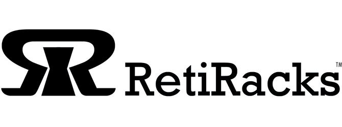 RetiRacks™ logo in black and white