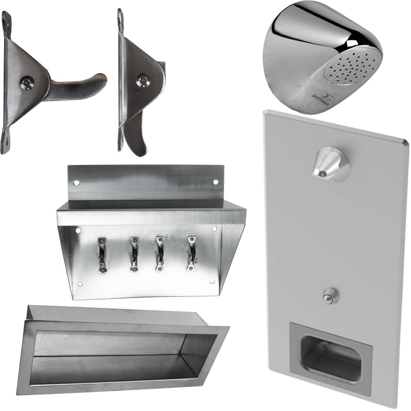 Product category image of various KryptoMax® stainless steel anti-ligature solutions for intensive use