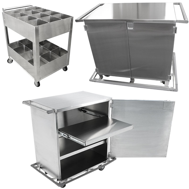 Product category image of various KryptoMax Corrections carts for intensive use facilities