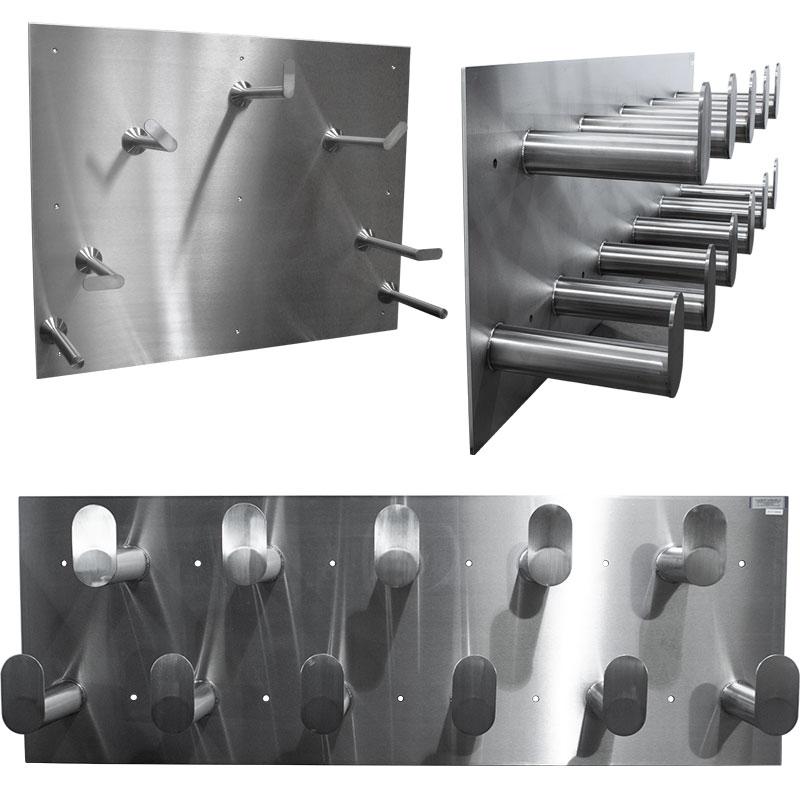 Product category image for KryptoMax® stainless steel hose racks showing 3 racks